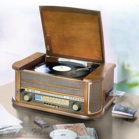 Retró nosztalgia lemezjátszó rádióval, kazettás magnóval , cd, usb csatlakozóval, digitalizáló funkcióval!