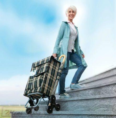 Maxi kerekes lépcsőmászó bevásárlókocsi