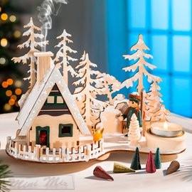 Téli falu dekoráció