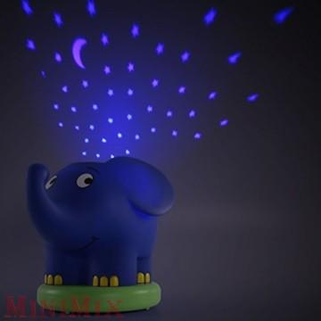 Elefántos zenélő,projektoros éjszakai fény
