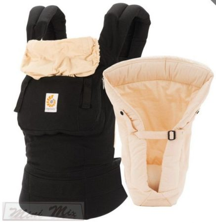 "ERGOBABY® Kenguru "" Bundle of Joy Black & Camel"" + Infant Insert szűkítő betét"