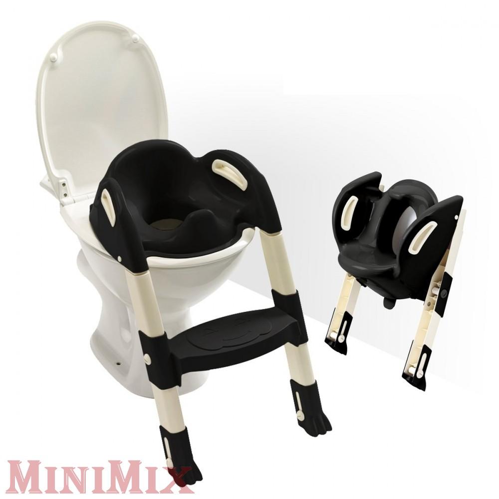 Kiddy Loo Lépcsős wc szűkítő fekete - Minimix