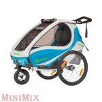 Qeridoo Kidgoo 1 kék kerékpár utánfutó