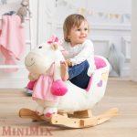 Rózsaszín pony hintaló