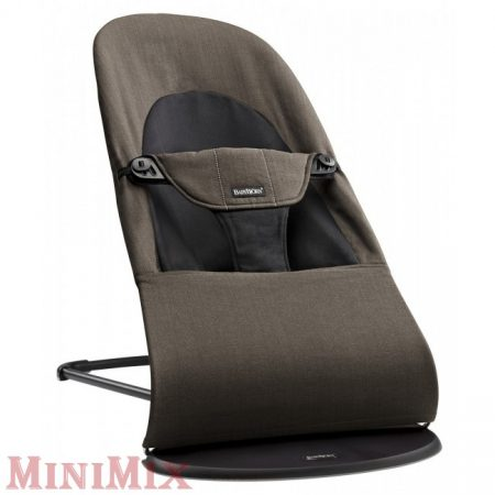 BabyBjörn Bouncer Balance Soft Organic (Black/Brown) pihenőszék