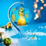 Világító angyal üveg gömbben