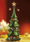 Ledes terrakotta karácsonyfa
