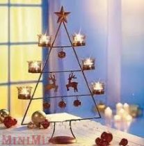 Kovácsoltvas stilusú Karácsonyi mécsestartó állvány
