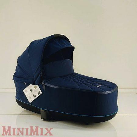 Cybex Priam Lux Platinum mózeskosár Nautical Blue-Navy Blue