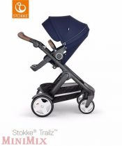 Stokke Trailz & seat Deep Blue-Black-Brown multifunkciós babakocsi