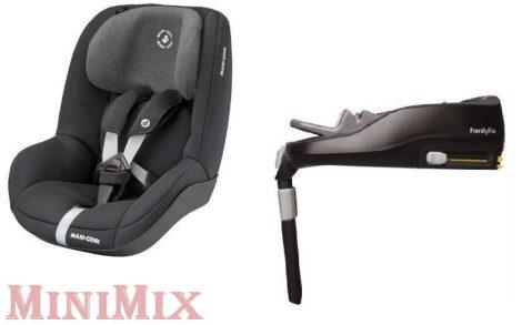 Maxi-Cosi Pearl Authentic Black gyerekülés 9-18 kg+Maxi Cosi Familyfix