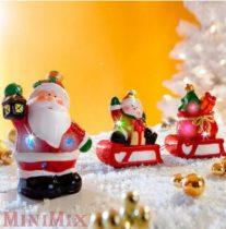 Karácsonyi világító mikulás szán