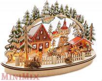 Led-es karácsonyi vásár fából