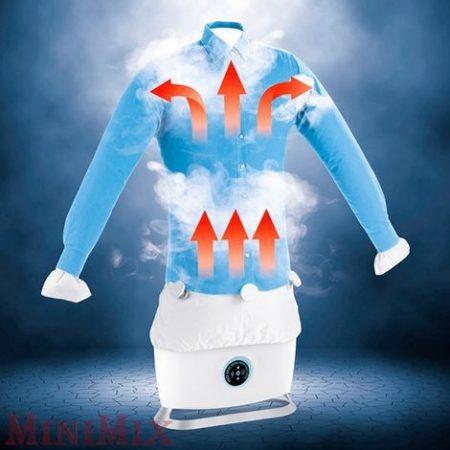 Cleanmaxx ruhagőzölő, vasaló ingekhez és blúzokhoz, fehér, 1800 W
