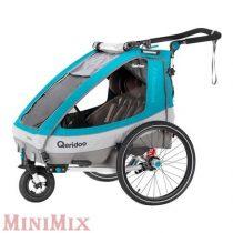 Qeridoo Sportrex 2 kerékpár utánfutó Petrol 2020