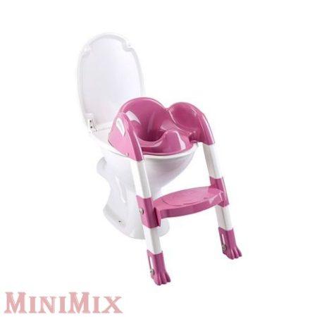 Kiddy Loo lépcsős wc szűkítő fehér/rózsaszín